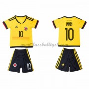 Nationalmannschaft Trikot Kinder Colombia 2016 James Rodriguez 10 Auswärts Trikotsatz Kurzarm..