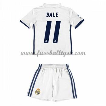 Kinder Fussball Trikot Real Madrid 2016-17 Bale 11 Heim Trikotsatz Kurzarm