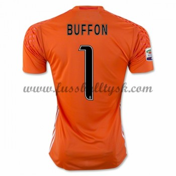Series A Fussball Trikots Juventus 2016-17 Buffon 1 Torwart Heimtrikot Kurzarm