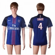 Ligue 1 Fussball Trikots Paris Saint Germain Psg 2016-17 Cabaye 4 Heimtrikot Kurzarm..