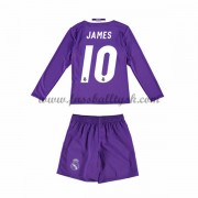 Kinder Fussball Trikot Real Madrid 2016-17 James 10 Auswärts Trikotsatz langarm..