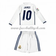 Kinder Fussball Trikot Real Madrid 2016-17 James 10 Heim Trikotsatz langarm..