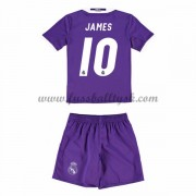 Kinder Fussball Trikot Real Madrid 2016-17 James 10 Auswärts Trikotsatz Kurzarm..