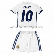 Kinder Fussball Trikot Real Madrid 2016-17 James 10 Heim Trikotsatz Kurzarm..