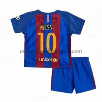 Kinder Fussball Trikot Barcelona 2016-17 Messi 10 Heim Trikotsatz Kurzarm