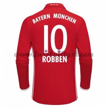 Bundesliga Fussball Trikots Bayern Munich 2016-17 Robben 10 Heimtrikot Langarm