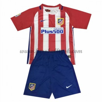 Kinder Fussball Trikot Atletico Madrid 2016-17 Heim Trikotsatz Kurzarm