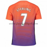 Premier League Fussball Trikots Manchester City 2016-17 Sterling 7 3rd Trikot Kurzarm..
