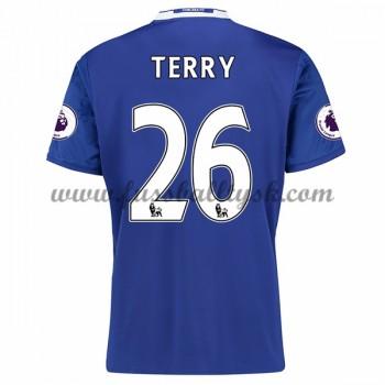Premier League Fussball Trikots Chelsea 2016-17 Terry 26 Heimtrikot Kurzarm