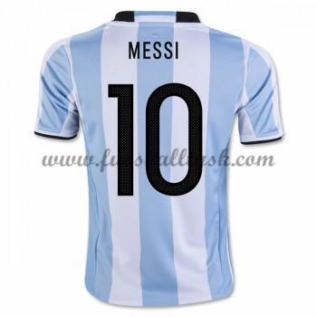 Günstige Fußballtrikots Argentina Nationalmannschaft 2016 Lionel Messi 10 Heimtrikot Kurzarm