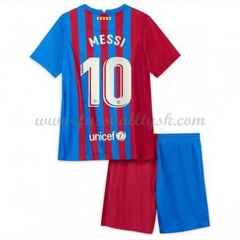 Kinder Fussball Trikot Barcelona 2017-18 Lionel Messi 10 Heim Trikotsatz Kurzarm