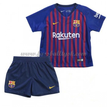 Kinder Fussball Trikot Barcelona 2018-19 Heim Trikotsatz Kurzarm