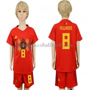 Nationalmannschaft Trikot Kinder Belgien WM 2018 Fellaini 8 Heim Trikotsatz Fussball Kurzarm..