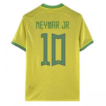 Fussball Trikots Brasilien WM 2018 Neymar JR 10 Heimtrikot Kurzarm