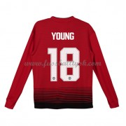 Kinder Fussball Trikot Manchester United 2018-19 Ashley Young 18 Heim Trikotsatz Langarm..