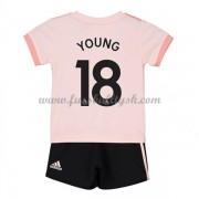 Kinder Fussball Trikot Manchester United 2018-19 Ashley Young 18 Auswärts Trikotsatz Kurzarm..