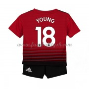 Kinder Fussball Trikot Manchester United 2018-19 Ashley Young 18 Heim Trikotsatz Kurzarm..