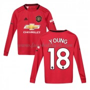 Kinder Fussball Trikot Manchester United 2019-20 Ashley Young 18 Heim Trikotsatz Langarm..