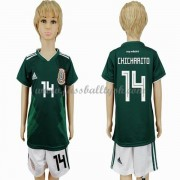 Nationalmannschaft Trikot Kinder Mexiko WM 2018 Chicharito 14 Heim Trikotsatz Fussball Kurzarm..