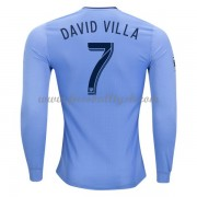 Vereine Fussball Trikots New York City 2017-18 David Villa 7 Heimtrikot Langarm..