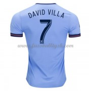 Vereine Fussball Trikots New York City 2017-18 David Villa 7 Heimtrikot Kurzarm..