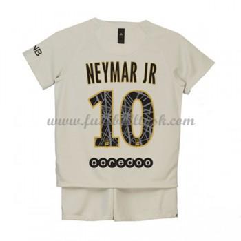 Kinder Fussball Trikot Paris Saint Germain PSG 2018-19 Neymar Jr 10 Auswärts Trikotsatz Kurzarm