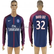 Ligue 1 Fussball Trikots Paris Saint Germain Psg 2017-18 David Luiz 32 Heimtrikot Langarm..