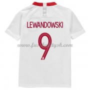 Nationalmannschaft Trikot Kinder Polen WM 2018 Robert Lewandowski 9 Heim Trikotsatz Fussball Kurzarm..